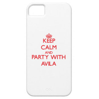 Keep calm and Party with Avila iPhone 5/5S Case