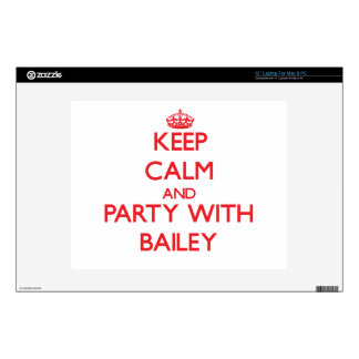 """Keep calm and Party with Bailey 12"""" Laptop Skin"""