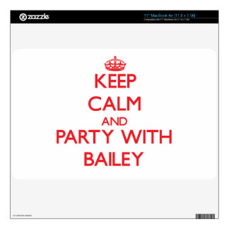 Keep calm and Party with Bailey Skins For MacBook Air