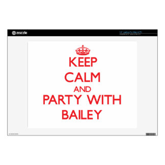"""Keep calm and Party with Bailey 14"""" Laptop Skin"""
