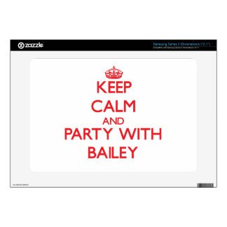 Keep calm and Party with Bailey Samsung Chromebook Decals