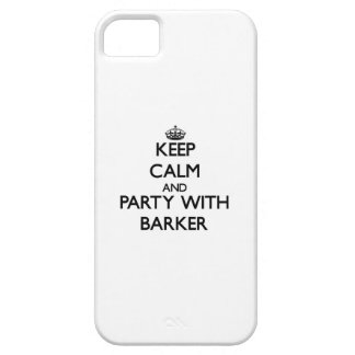 Keep calm and Party with Barker iPhone 5/5S Covers