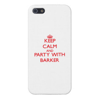 Keep calm and Party with Barker iPhone 5 Covers