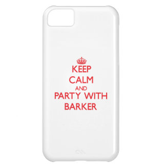 Keep calm and Party with Barker iPhone 5C Cover