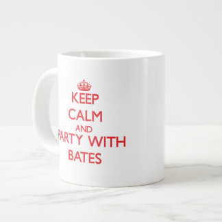 Keep calm and Party with Bates Extra Large Mug