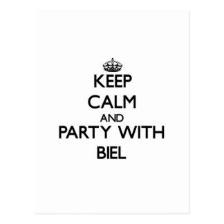 Keep calm and Party with Biel Postcard