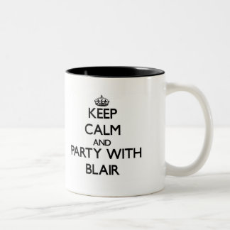 Keep calm and Party with Blair Two-Tone Coffee Mug