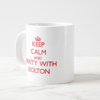 Keep calm and Party with Bolton Extra Large Mug