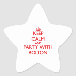 Keep calm and Party with Bolton Star Stickers