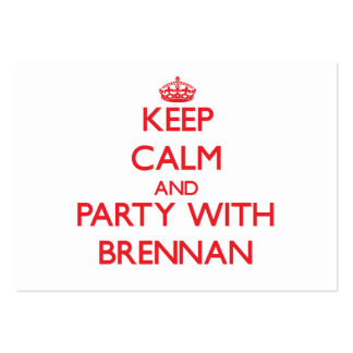 Keep calm and Party with Brennan Large Business Cards (Pack Of 100)