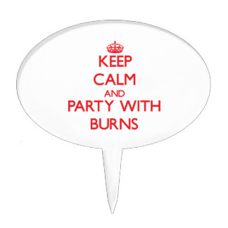 Keep calm and Party with Burns Cake Toppers