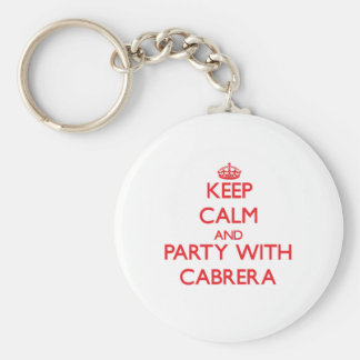 Keep calm and Party with Cabrera Key Chain