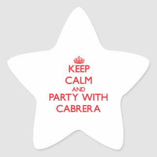 Keep calm and Party with Cabrera Star Stickers