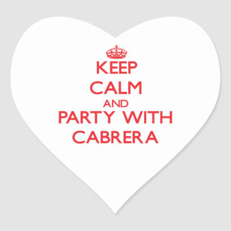Keep calm and Party with Cabrera Stickers