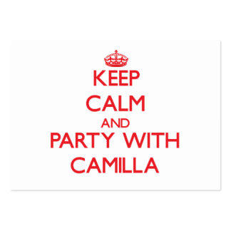 Keep Calm and Party with Camilla Business Card Templates