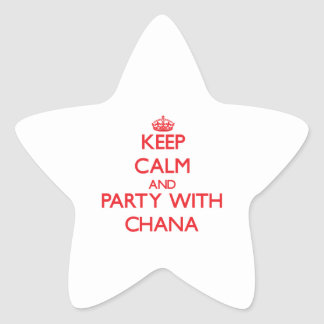 Keep Calm and Party with Chana Star Sticker