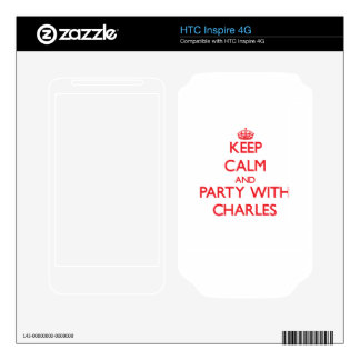 Keep calm and Party with Charles HTC Inspire 4G Decal