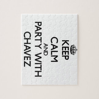 Keep calm and Party with Chavez Puzzle