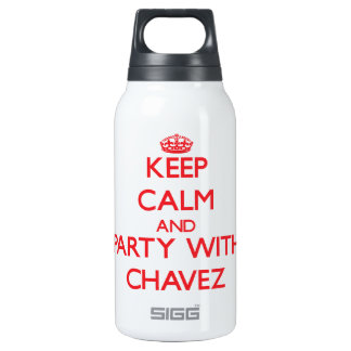 Keep calm and Party with Chavez 10 Oz Insulated SIGG Thermos Water Bottle