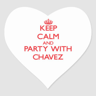 Keep calm and Party with Chavez Heart Sticker