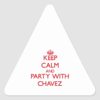 Keep calm and Party with Chavez Triangle Sticker