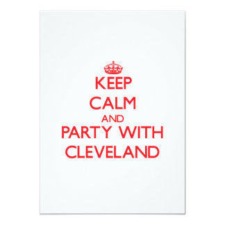 Keep calm and Party with Cleveland Announcements