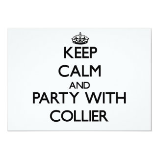 Keep calm and Party with Collier 5x7 Paper Invitation Card