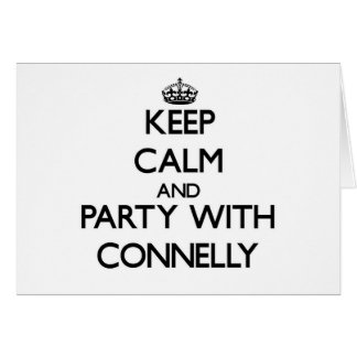 Keep calm and Party with Connelly Stationery Note Card