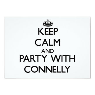 Keep calm and Party with Connelly 5x7 Paper Invitation Card