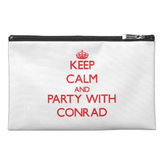 Keep calm and Party with Conrad Travel Accessory Bags