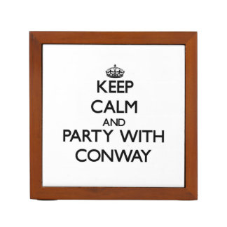 Keep calm and Party with Conway Pencil Holder