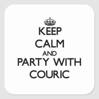 Keep calm and Party with Couric Stickers