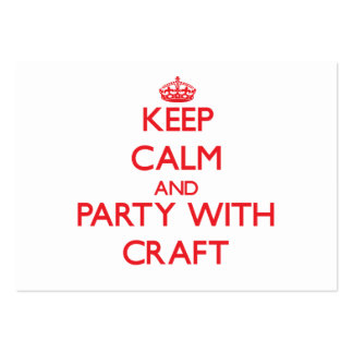 Keep calm and Party with Craft Business Card