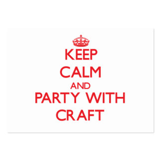 Keep calm and Party with Craft Business Card Templates