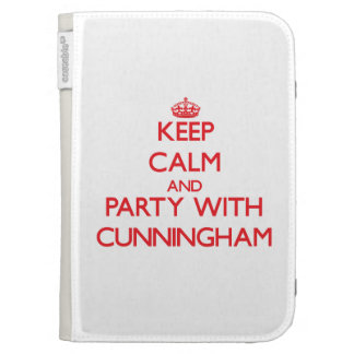 Keep calm and Party with Cunningham Kindle Folio Case