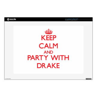 """Keep calm and Party with Drake Decal For 15"""" Laptop"""