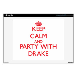 """Keep calm and Party with Drake Decal For 14"""" Laptop"""