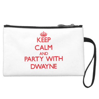 Keep calm and Party with Dwayne Wristlet Purse