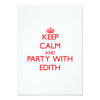 Keep Calm and Party with Edith 5x7 Paper Invitation Card