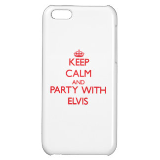 Keep calm and Party with Elvis iPhone 5C Case