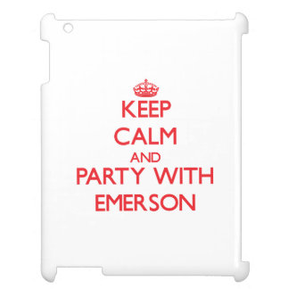 Keep calm and Party with Emerson Cover For The iPad