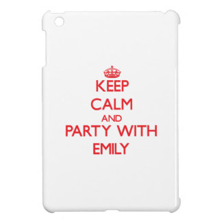Keep Calm and Party with Emily iPad Mini Cover