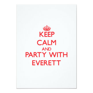 Keep calm and Party with Everett 5x7 Paper Invitation Card