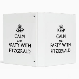 Keep calm and Party with Fitzgerald Vinyl Binders