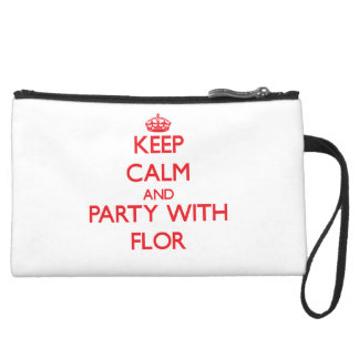 Keep Calm and Party with Flor Wristlet
