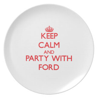 Keep calm and Party with Ford Party Plates