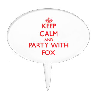 Keep calm and Party with Fox Cake Topper