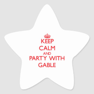 Keep calm and Party with Gable Star Sticker