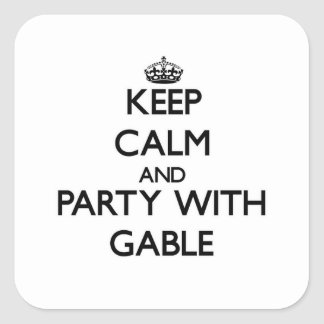 Keep calm and Party with Gable Stickers