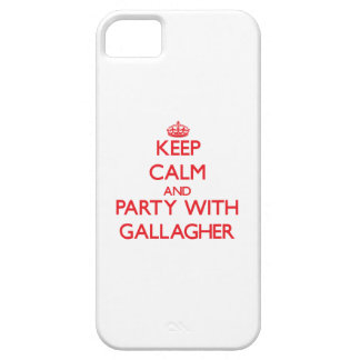 Keep calm and Party with Gallagher iPhone 5 Case